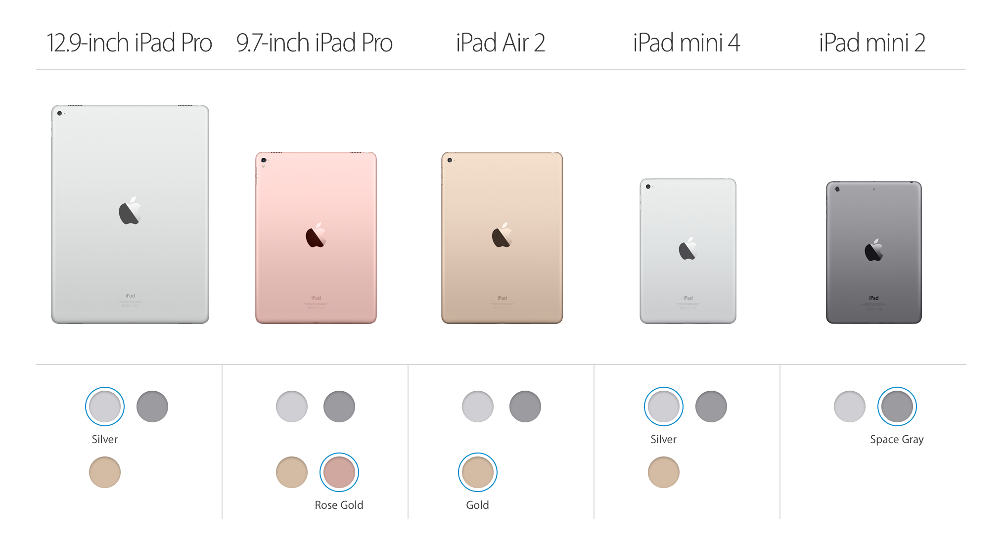 Various iPad Models