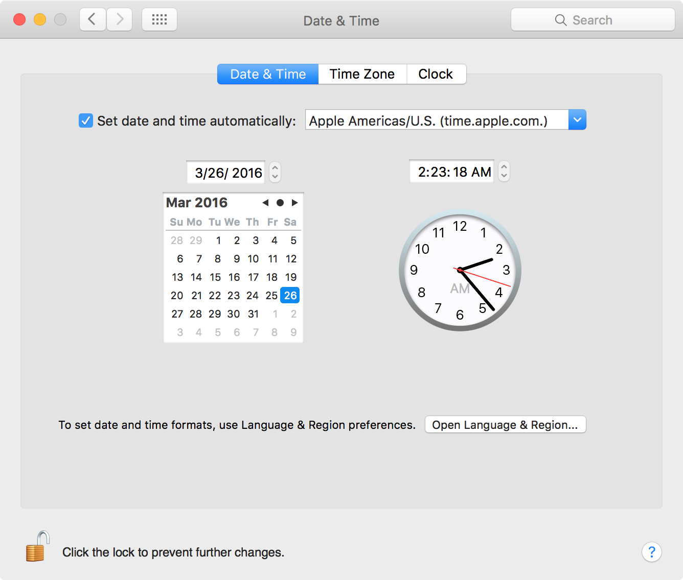 Check Date and Time on a Mac