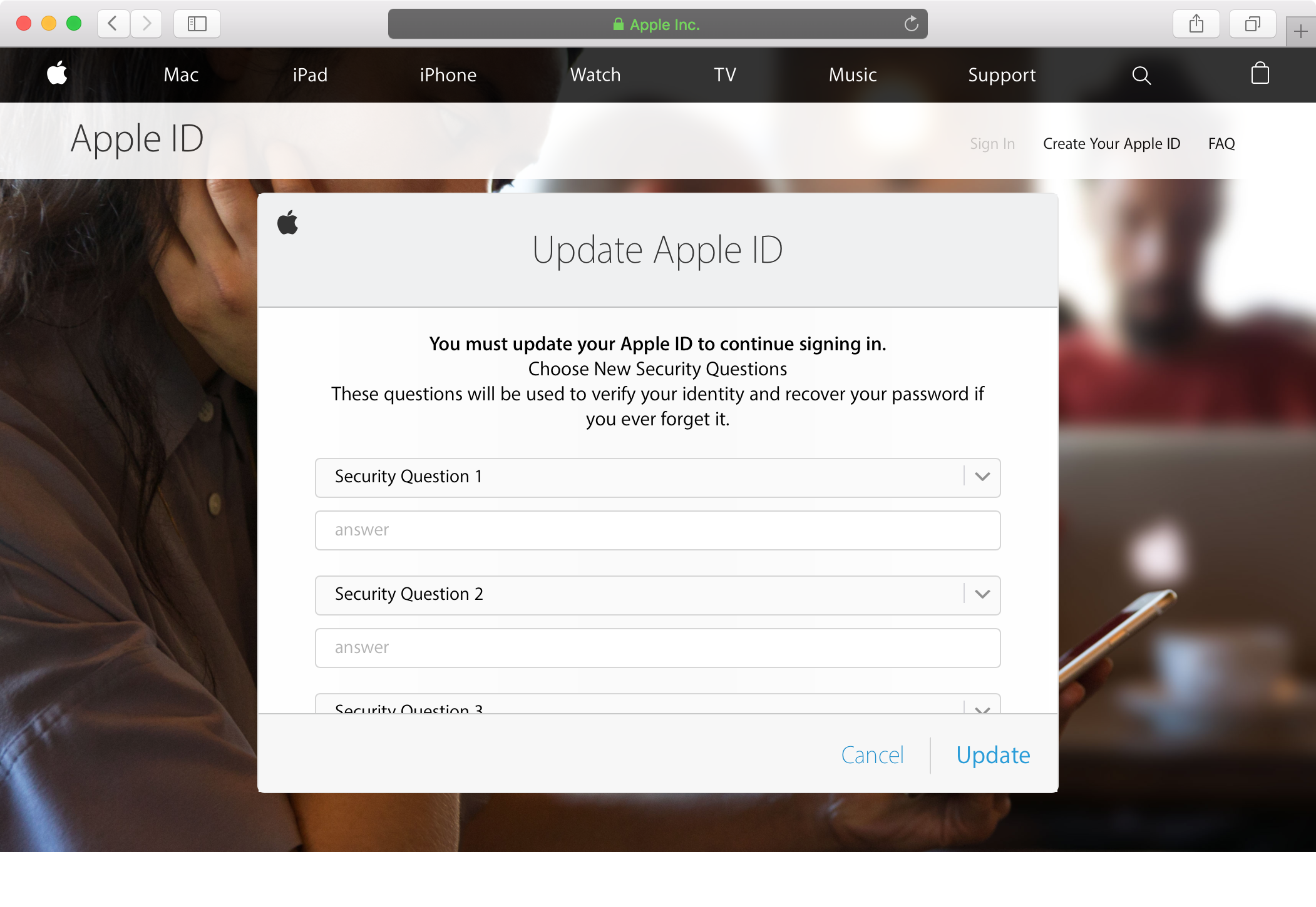 How to reset your Apple ID security questions and answers