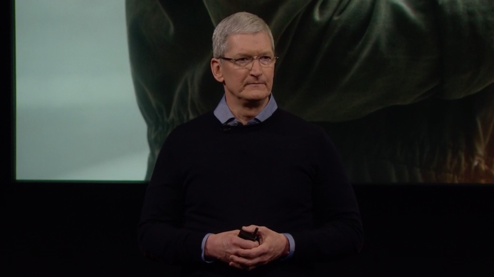 Tim Cook looking serious