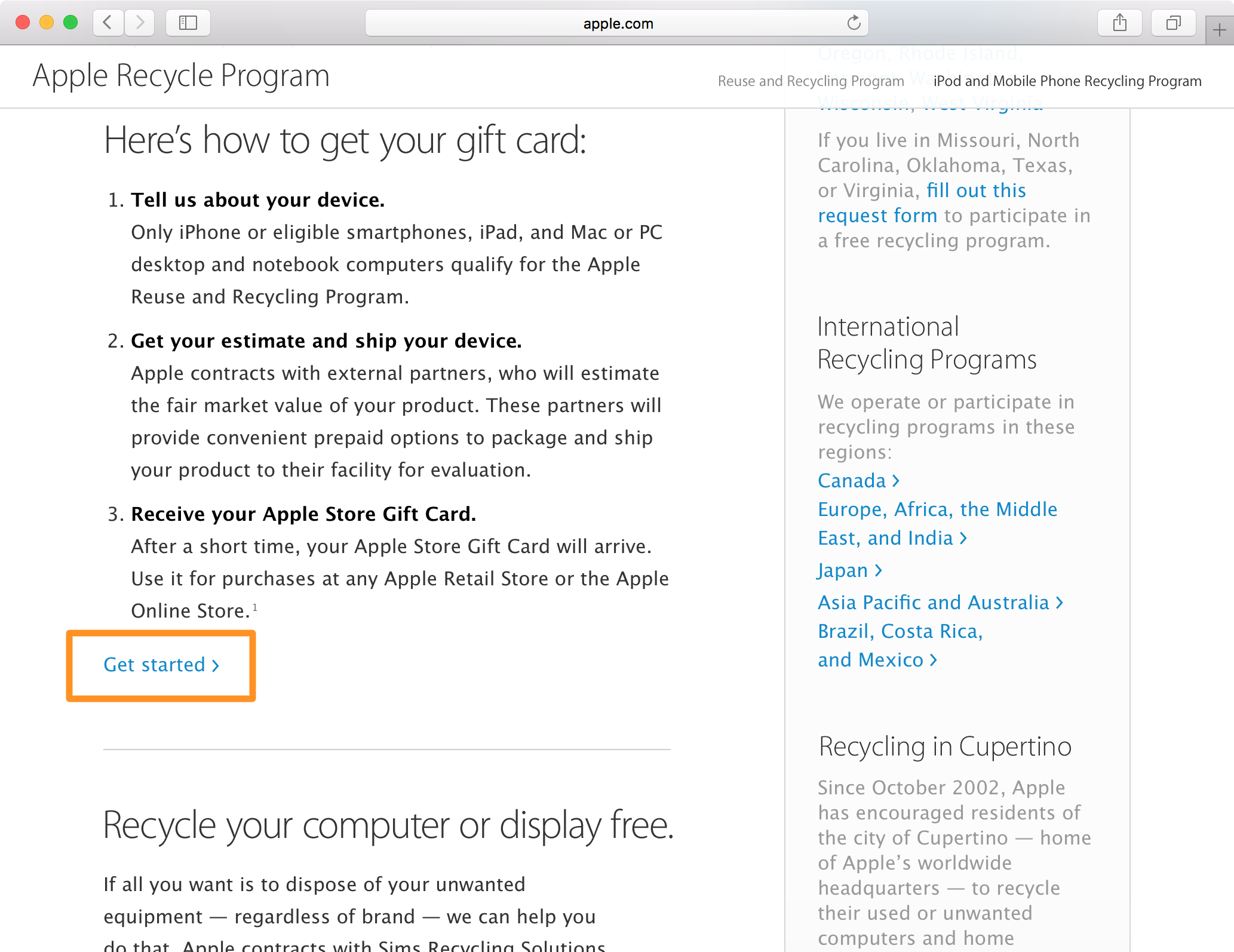 apple tech recycling gift card tutorial 2