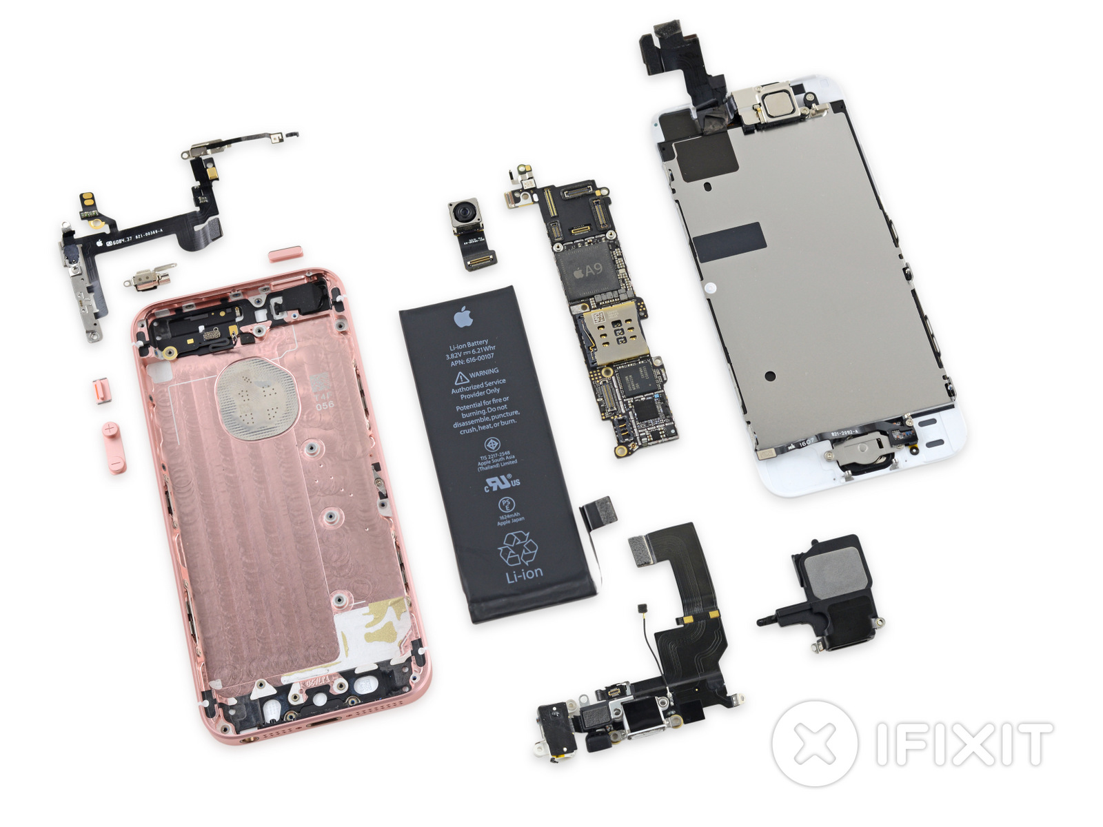 ifixit tears down iphone se reveals some interchangeable 5s parts. Black Bedroom Furniture Sets. Home Design Ideas