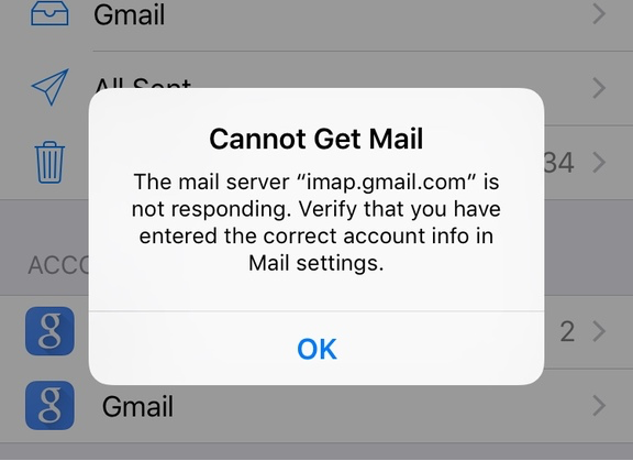 Cannot Get Mail