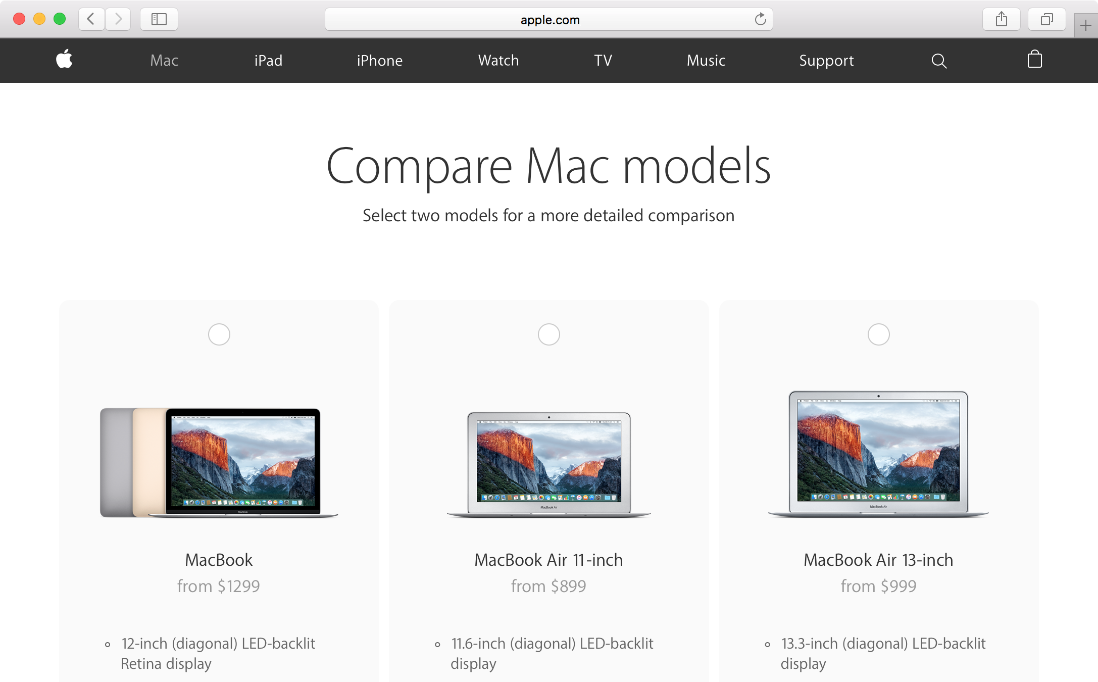 compare mac models 1