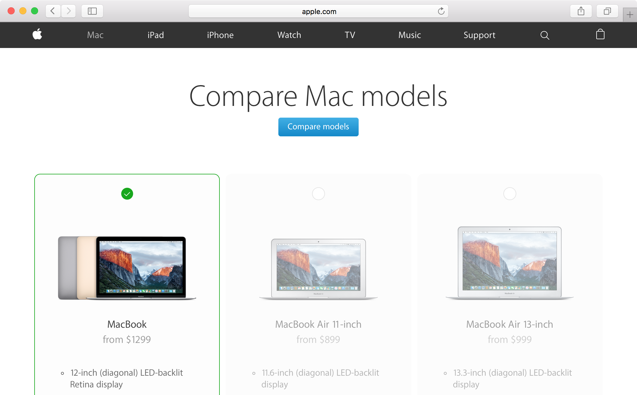 compare mac models 2