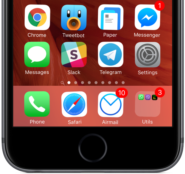 Home screen apps jiggle mode iPhone