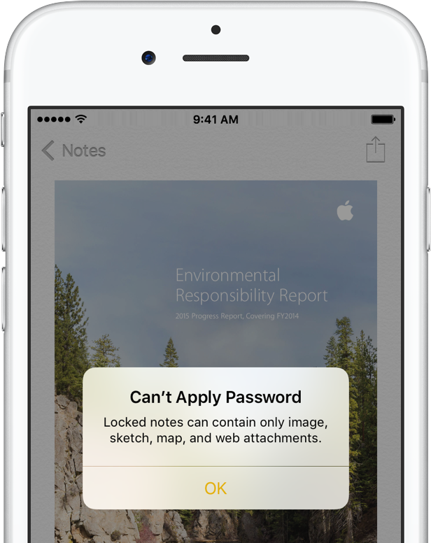 iOS 9 Notes password protection iPhone screenshot 002