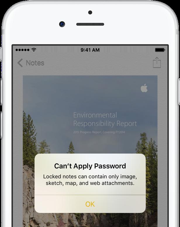 iOS 9 Notes password protection iPhone screenshot 002