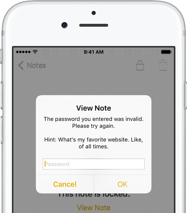 iOS 9 Notes password protection iPhone screenshot 010