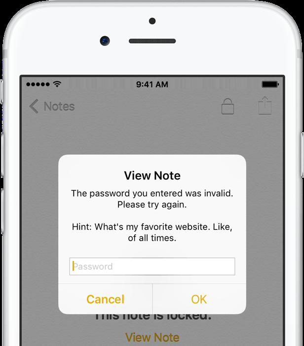 iOS 9 Notes password protection iPhone screenshot 010