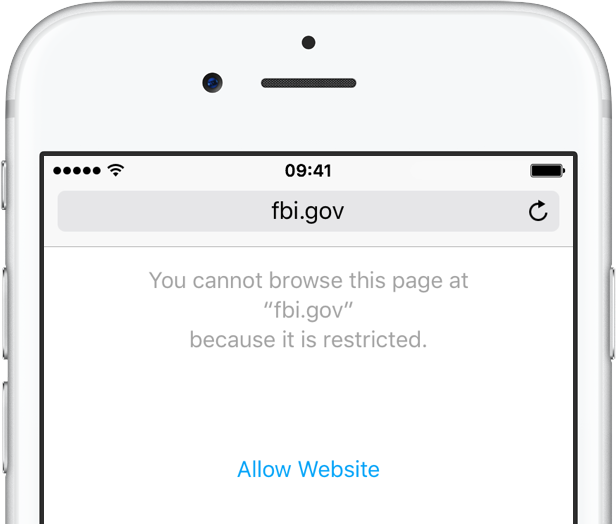 Safari restrict websites on iPhone