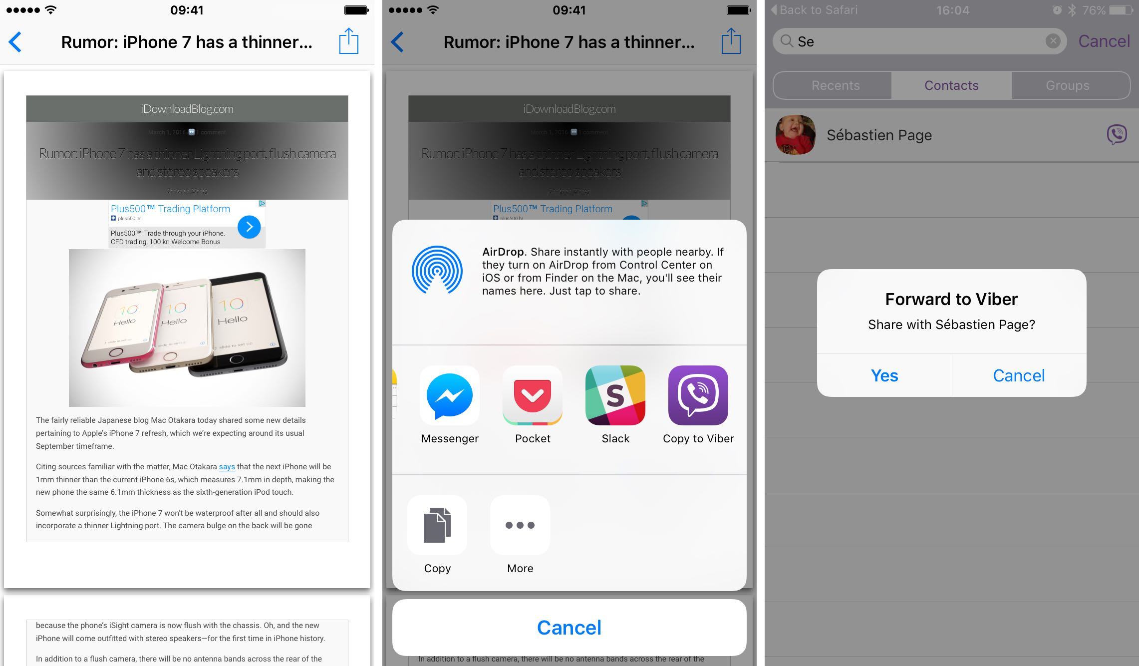 iOS 9 Enviar PDF con 3D Touch iPhone 6s captura de pantalla 003