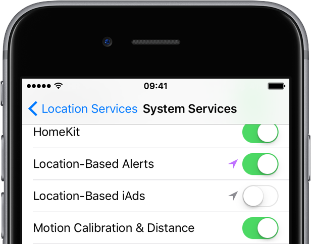 Disable Location-based Apple ads