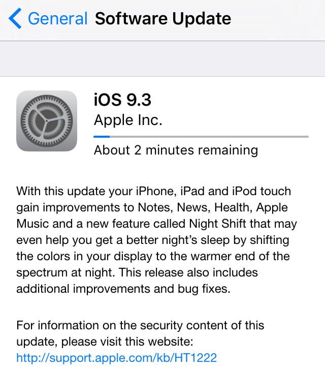 iOS 9.3 final