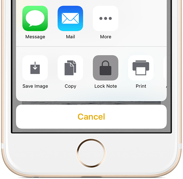 iOs 9 Notes protection add lock iPhone screenshot 001