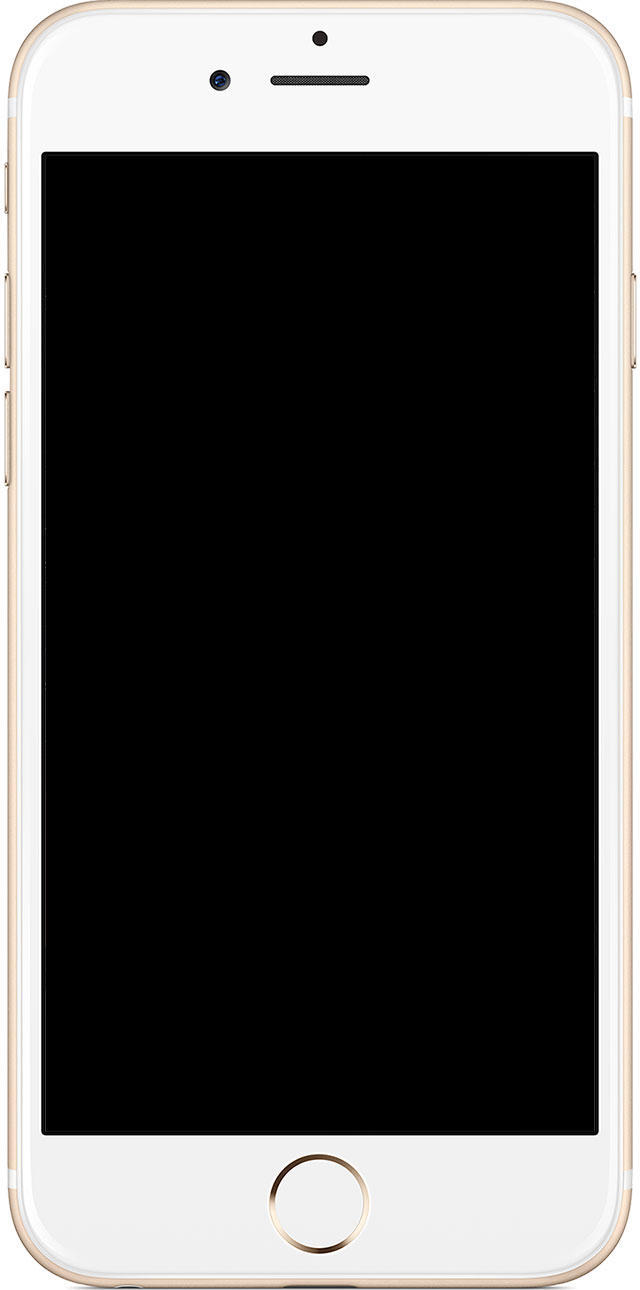 iPhone black screen won't turn on