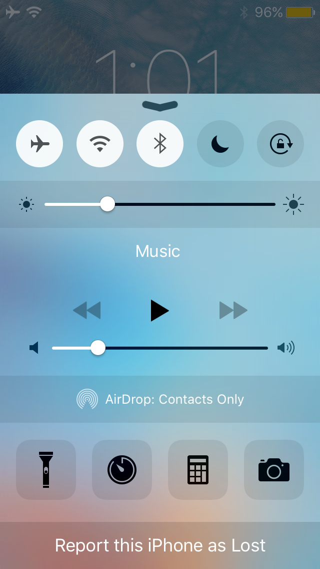 IfFound 3 Control Center button