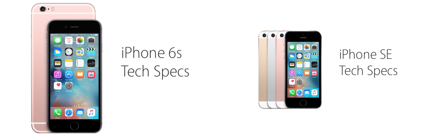 iphone se tech specs vs iphone 6s tech specs