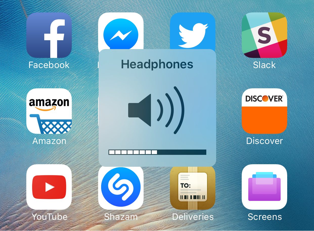 iphone stock in headphone volume mode