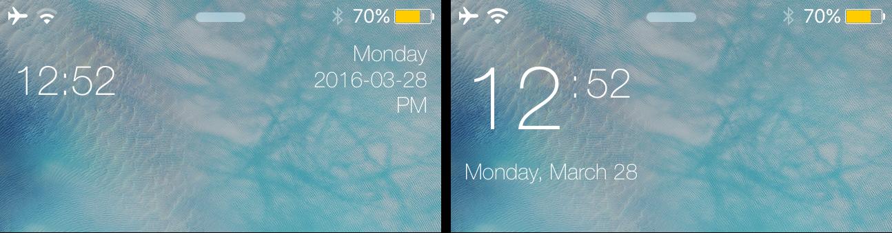 miniTime smaller Lock screen clock for iOS