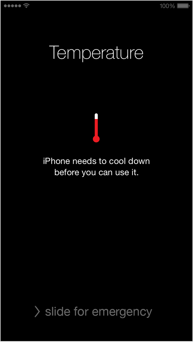 iphone getting too hot - needs to cool down message