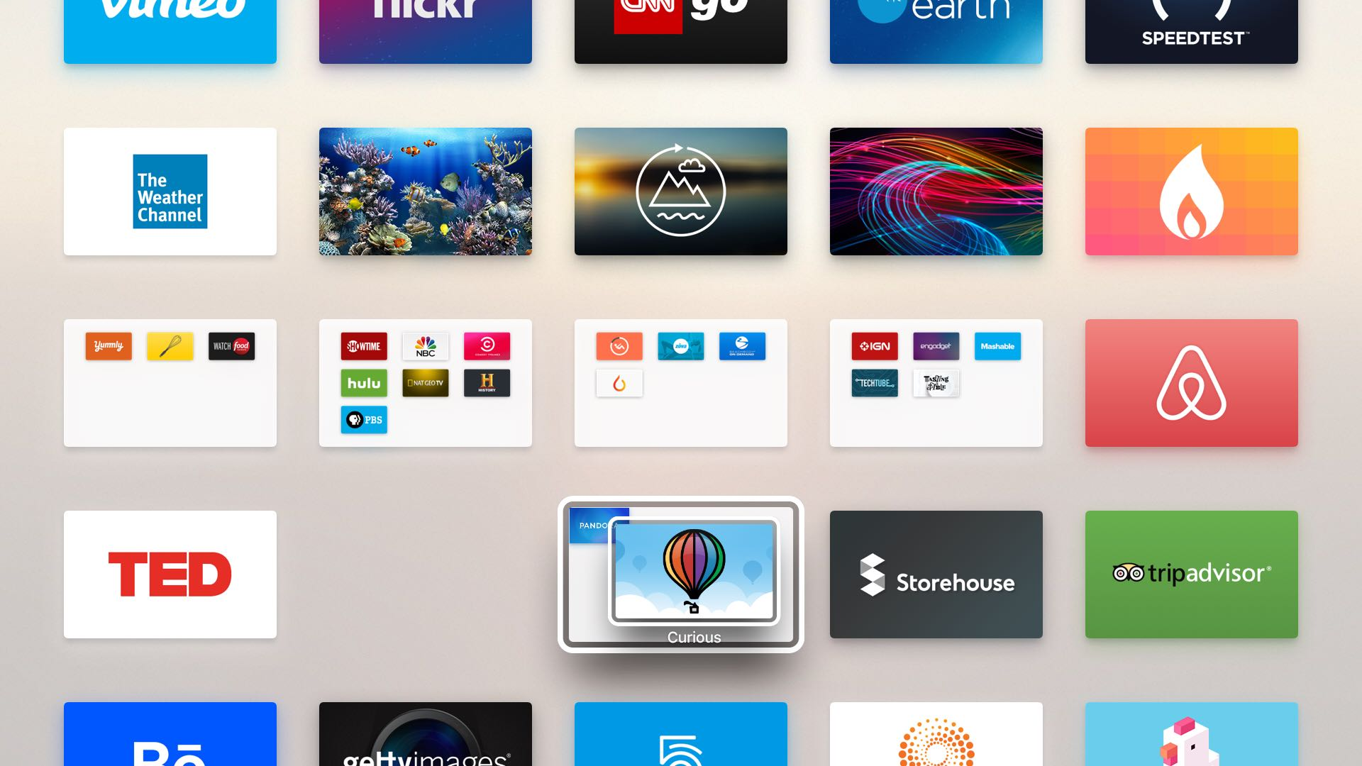 tvOS create app folder Apple TV screeenshot 002