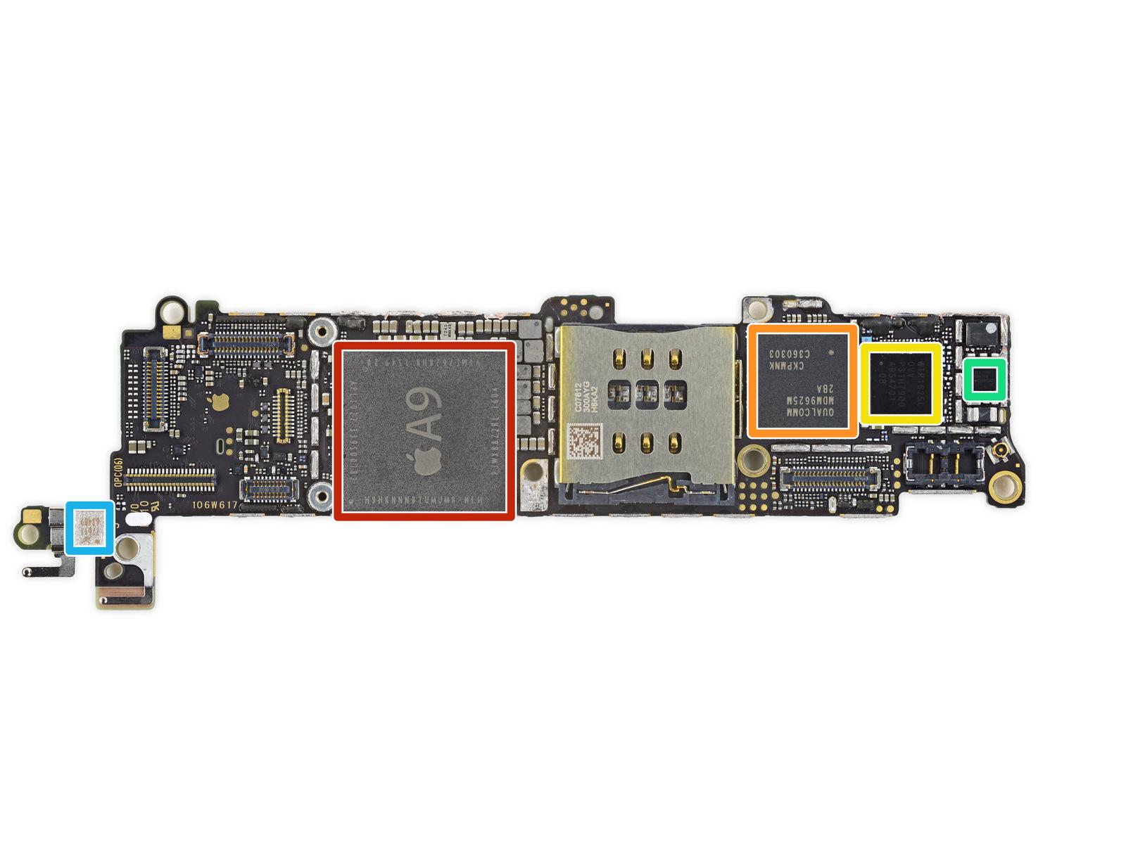 iFixit iPhone SE logic board teardown