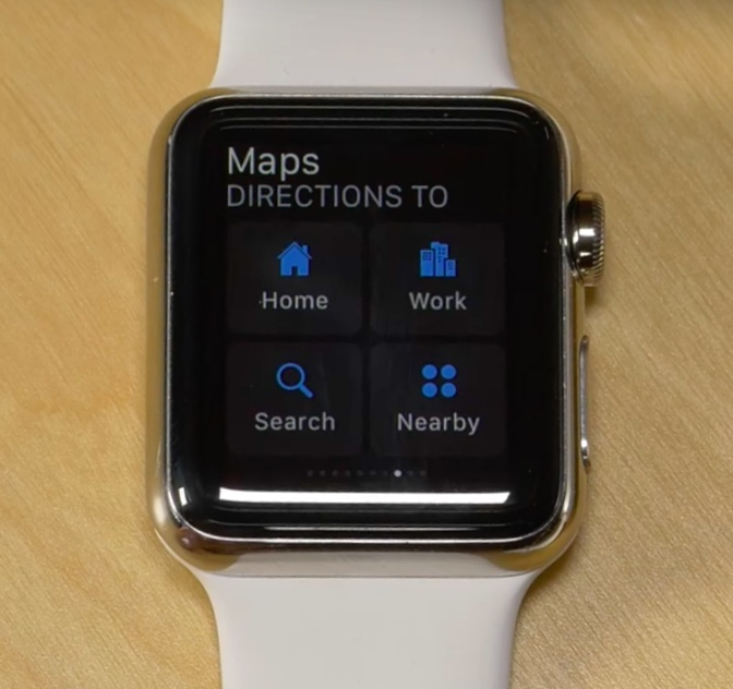 watchOS 2.2 Maps Apple Watch screenshot 002