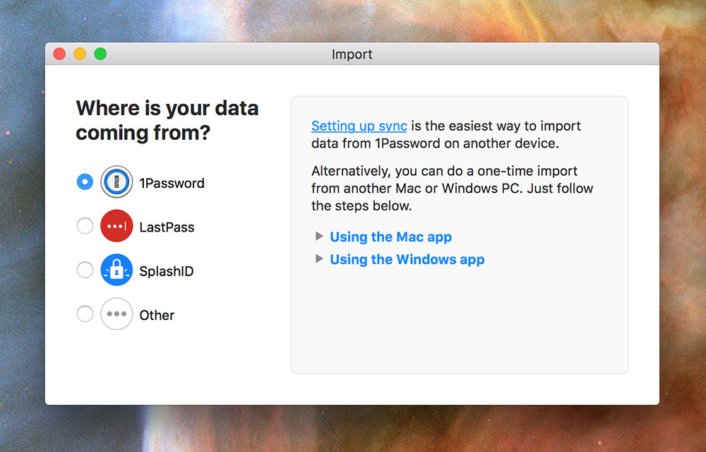 1Password 6.2 for OS X data importer Mac screenshot 001