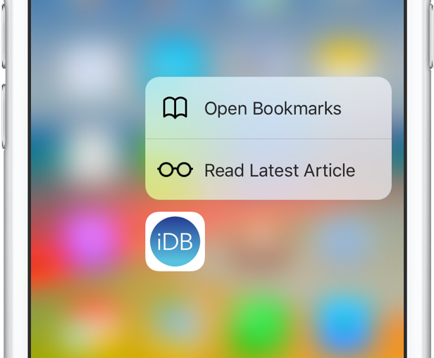3D Touch bookmarks