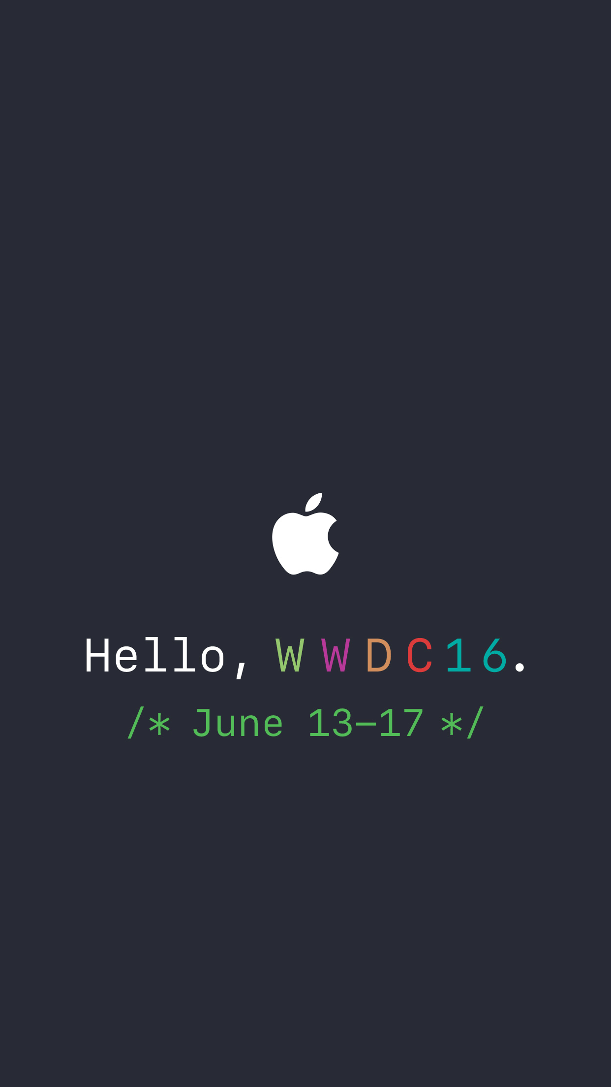 AR72014 WWDC 2016 wallpaper 2