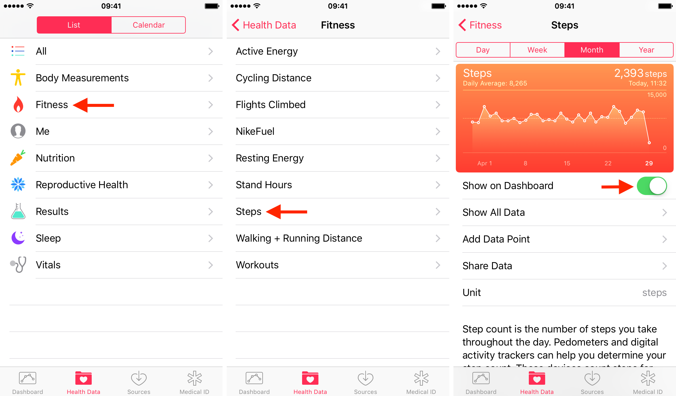 Adding step count to iPhone Health app