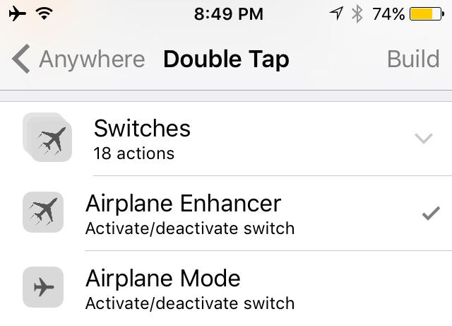 Airplane Enhancer Flipswitch