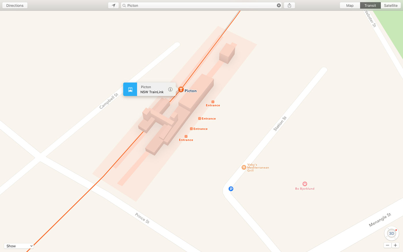 Apple Maps Transit TrainLink Australia screenshot 001