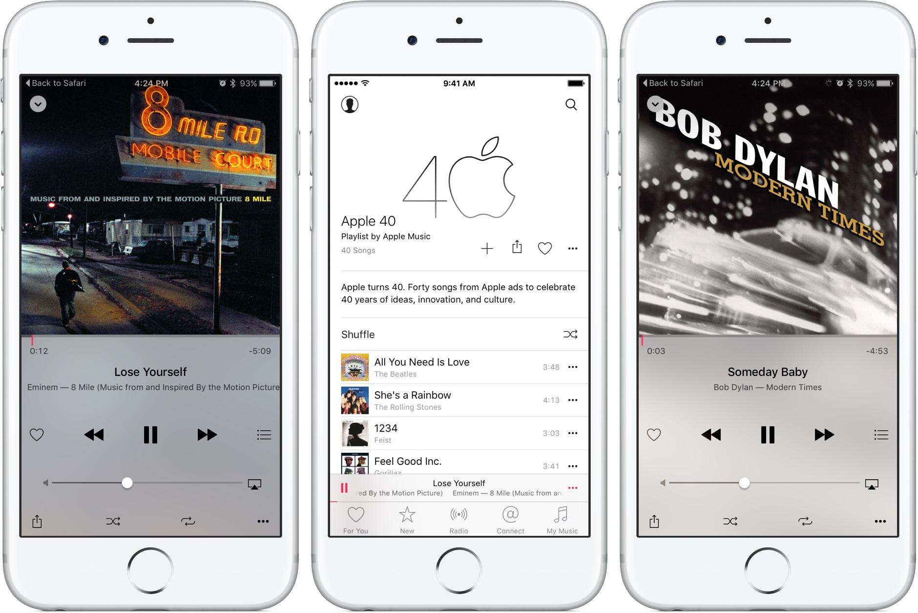 Apple Music 40 Years playlist iPhone screenshot 002