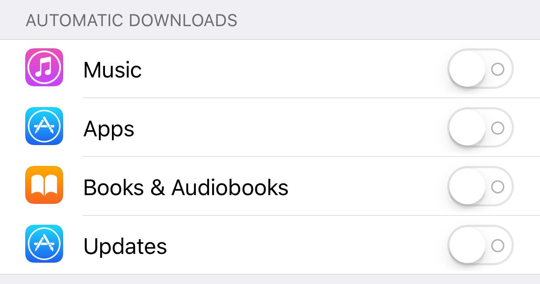 Descargas automáticas en iPhone