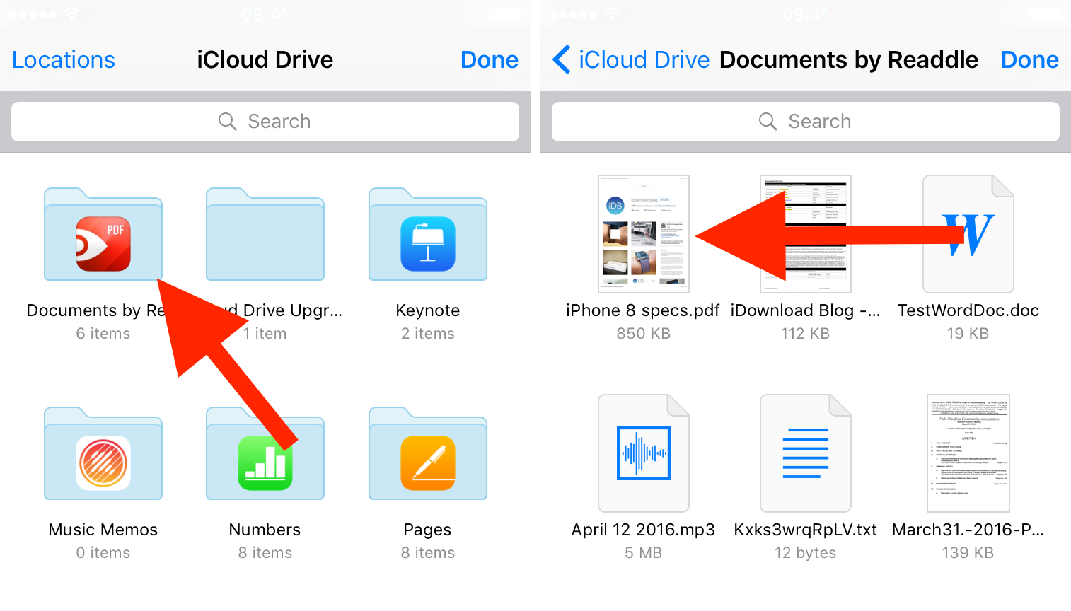 Browse iCloud file to attach