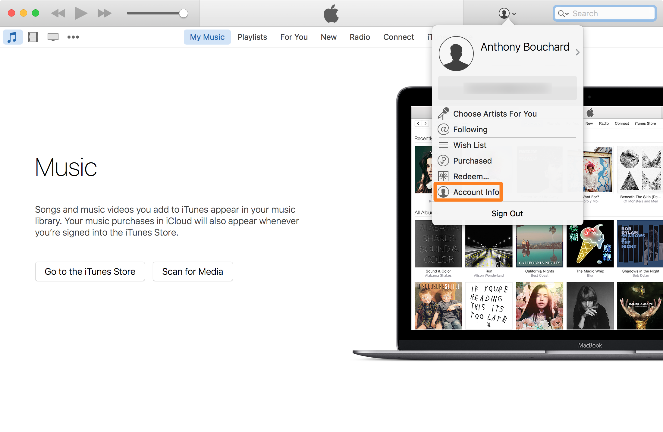 Change Apple ID payment information on Mac Account Info