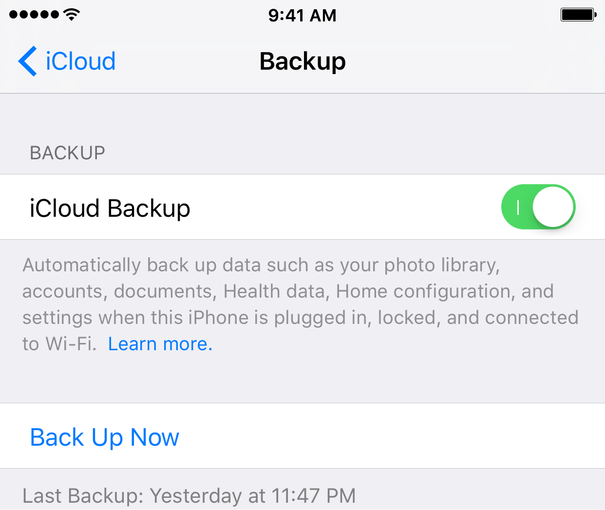 Creating a backup of your iPhone iPod touch or iPad