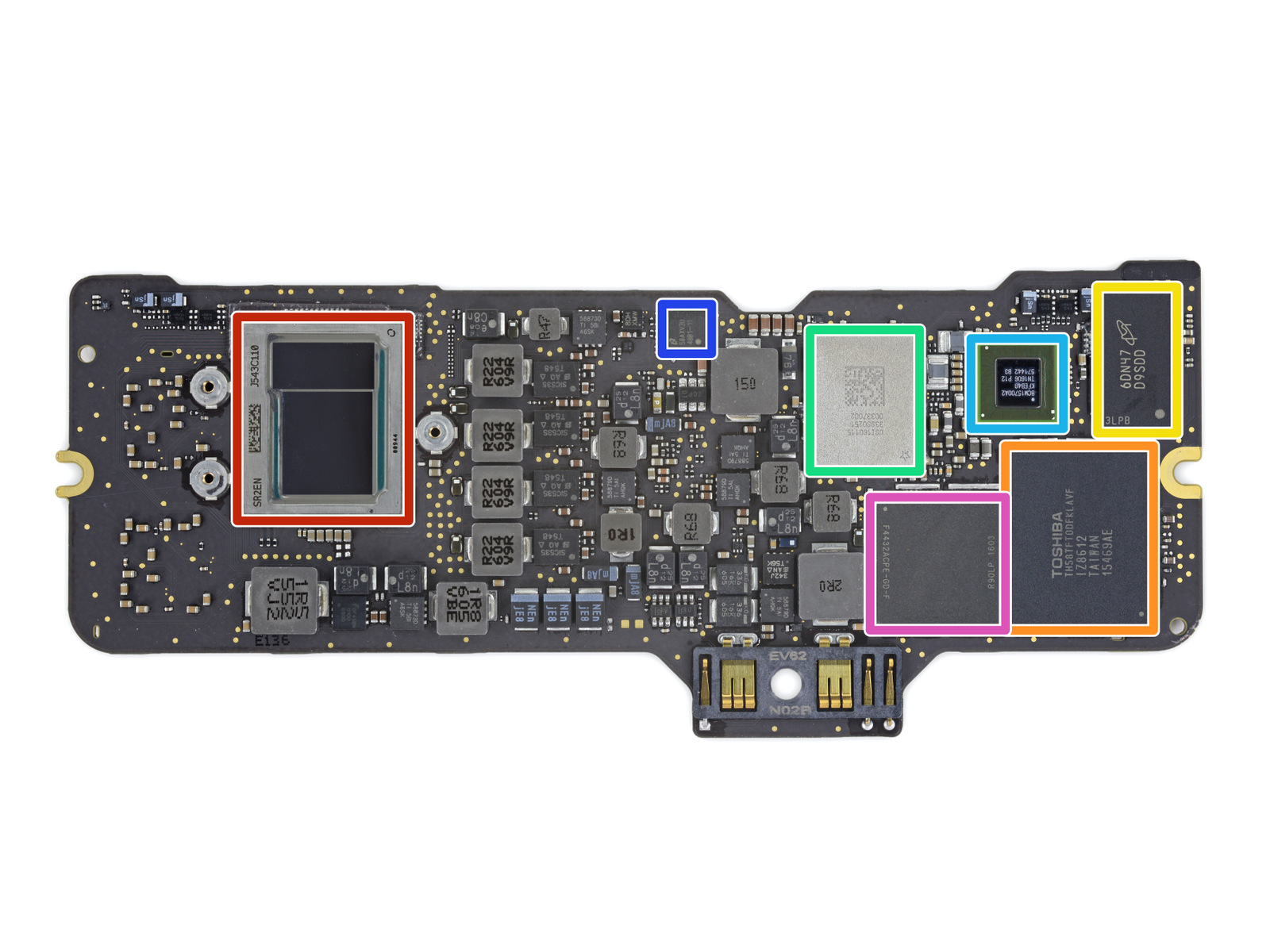 2016 Retina MacBook Logic Board
