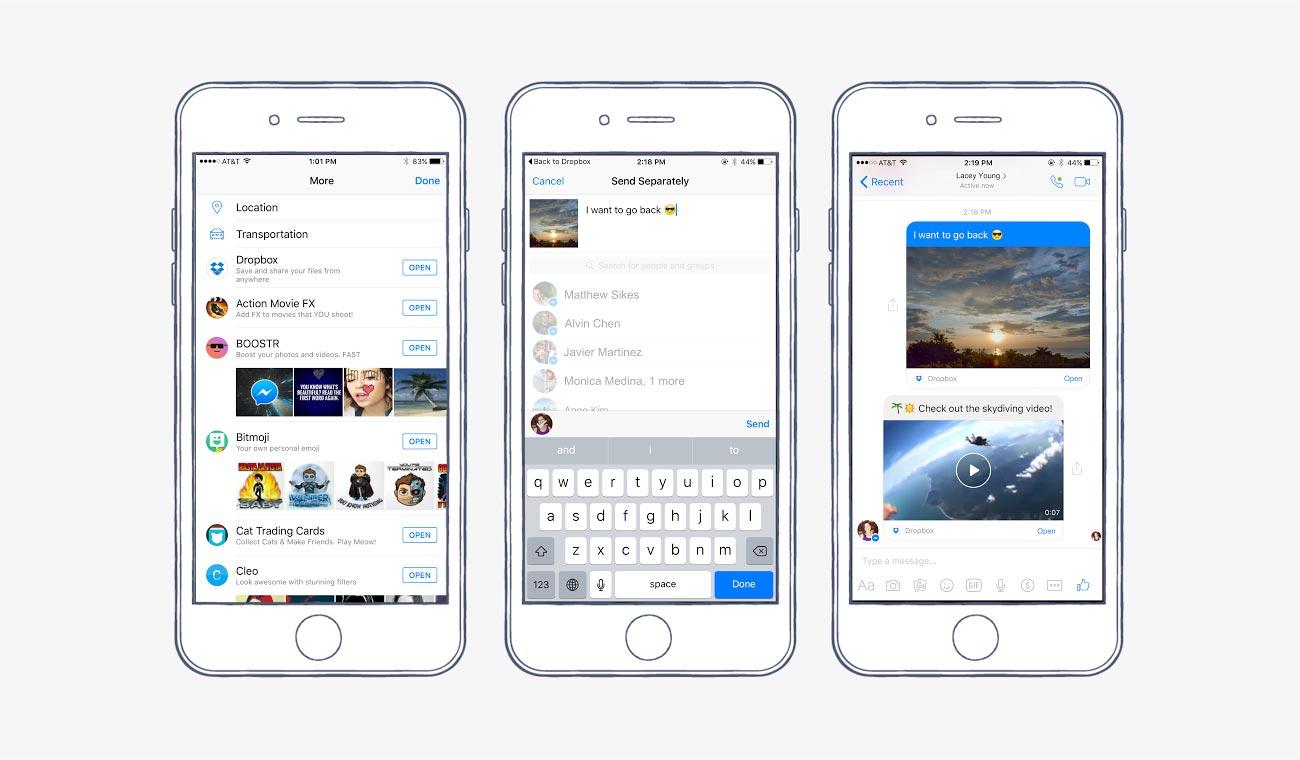 FAcebook Messenger Dropbox integration teaser 001