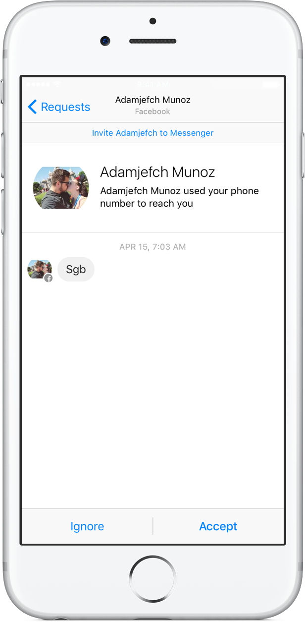 Facebook Messenger for iOS Filtered Requests iPhone screenshot 004
