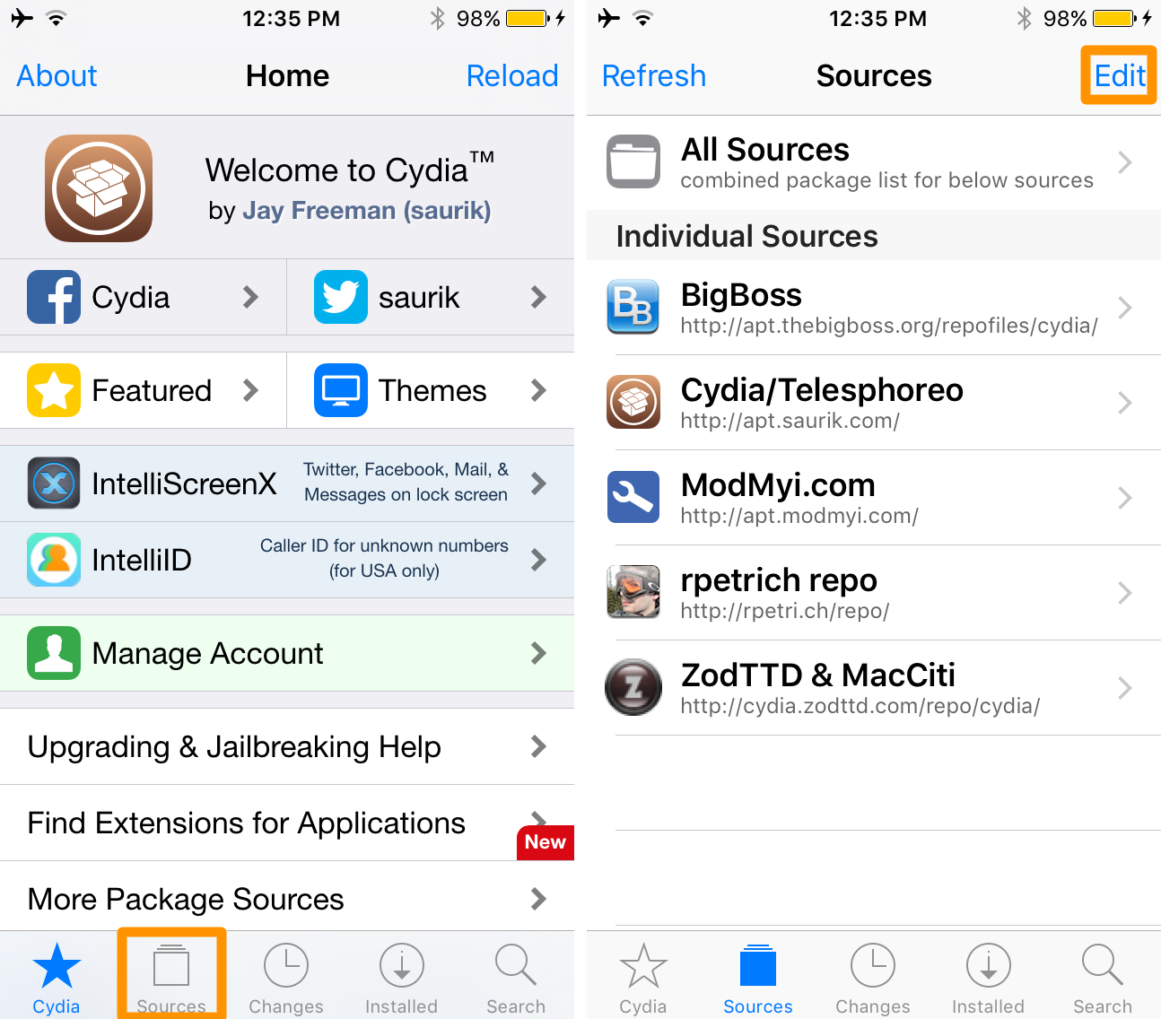 Fixing Size Mismatch Errors in Cydia 1