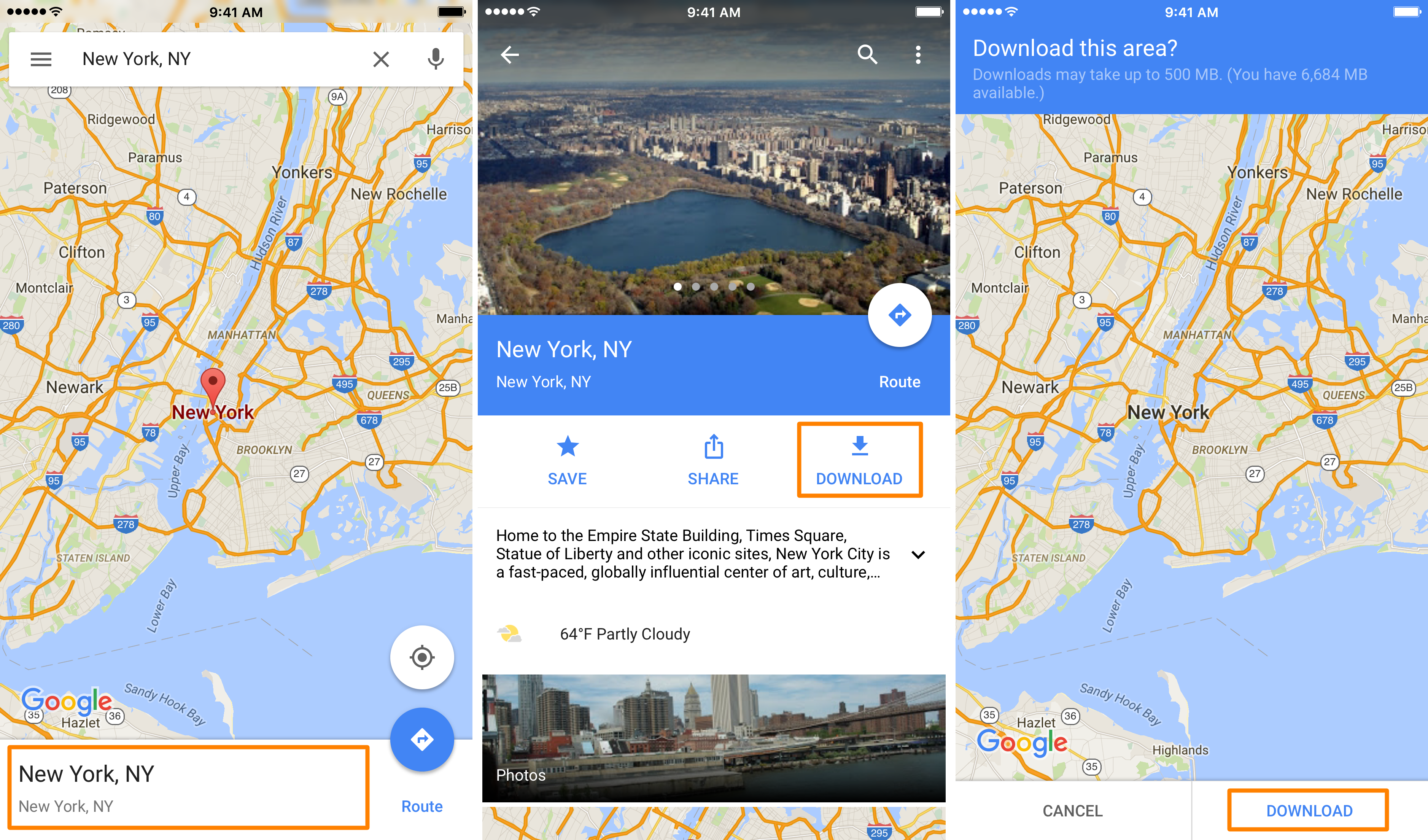 Iphone Map Of New York Offline.How To Download Areas In Google Maps For Offline Use