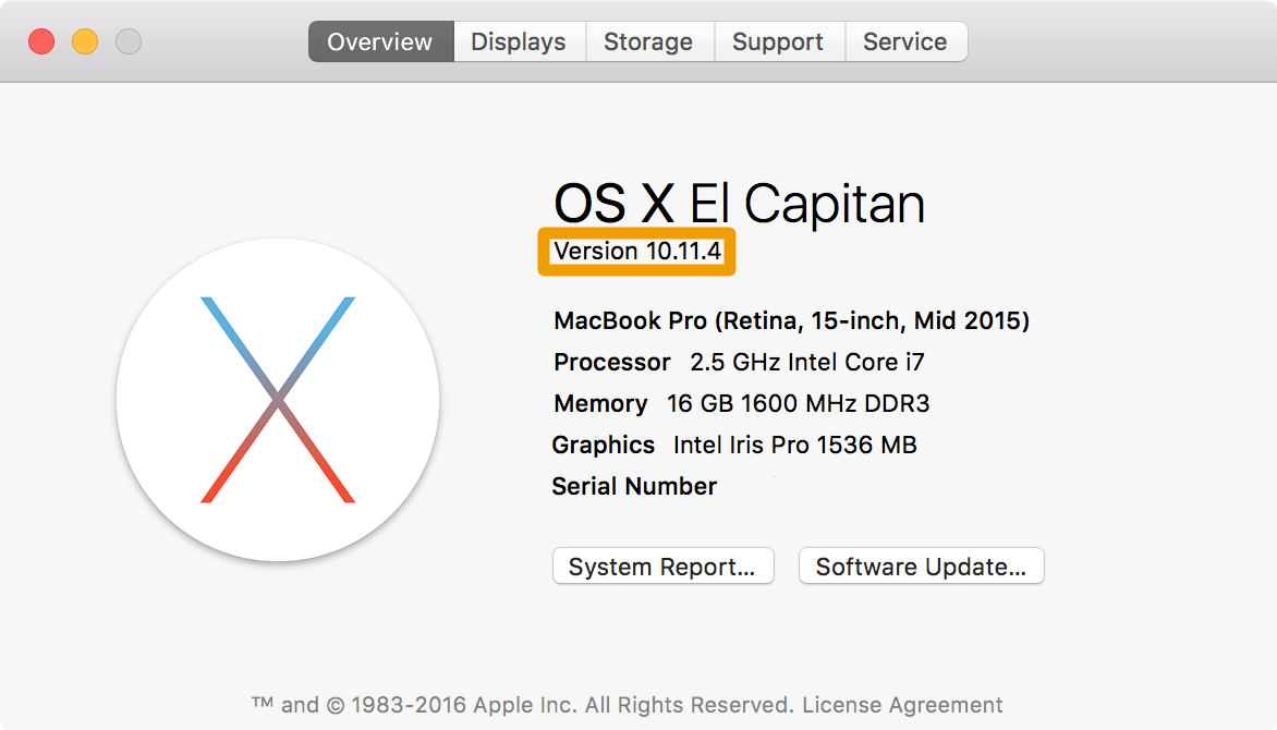 find os x version