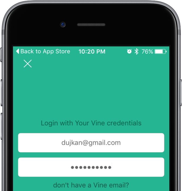 How to repost Vine videos on Instagram with VineGrab iPhone screenshot 001