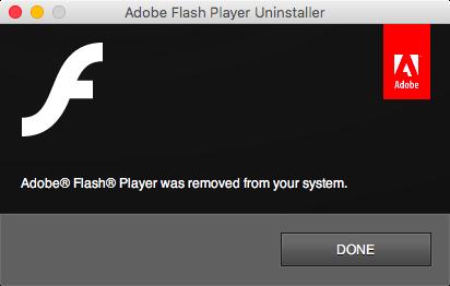 Flash eliminado de la computadora