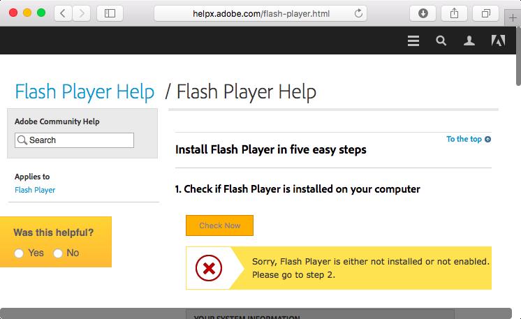 probleme adobe flash player
