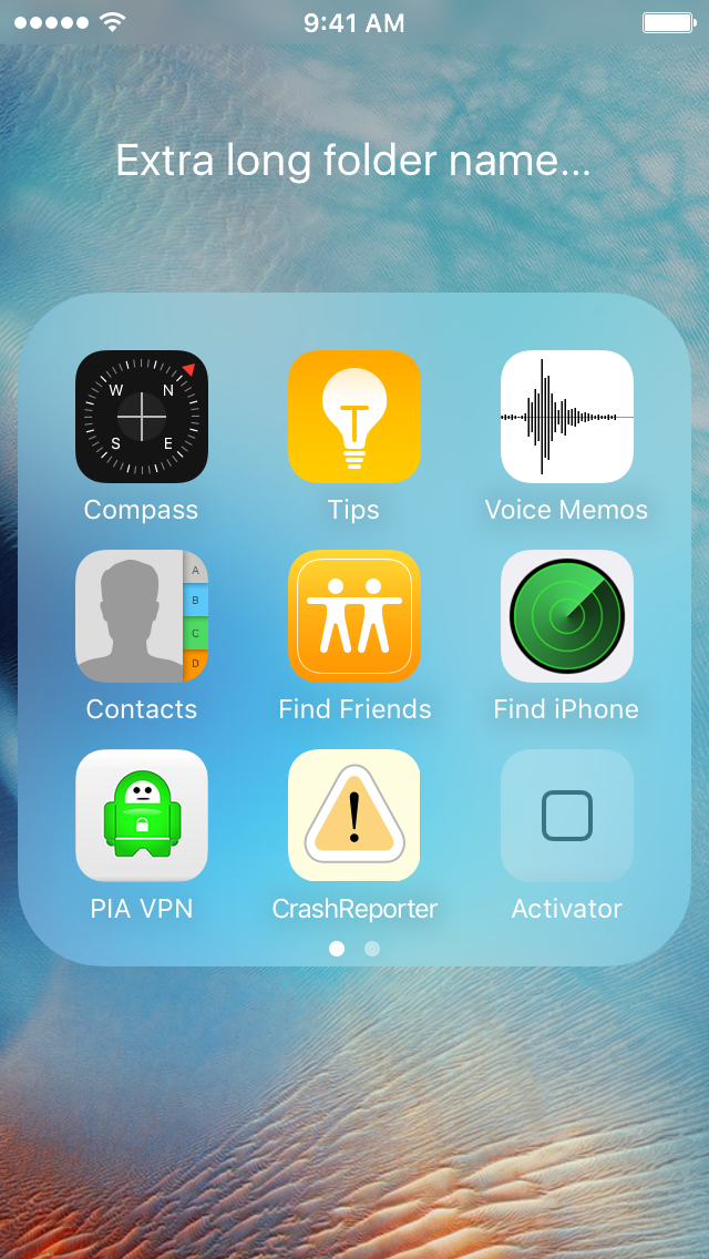 iphone app folder marquee lets you scrolling folder names in ios 11594