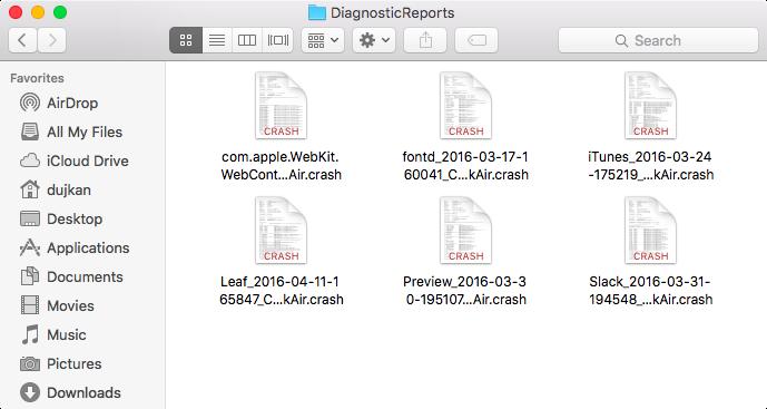 OS X Crash logs in Finder Mac screenshot 001